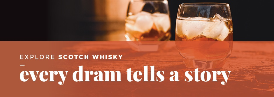 Banner for Explore Scotch Whisky promotion