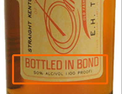 Bottled in Bond Label