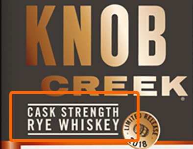 Cask Strength Label