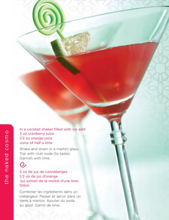 The Naked Cosmo Mocktail