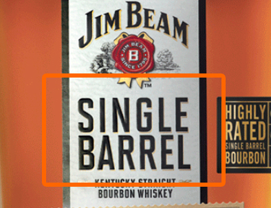 Single Barrel Label
