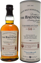 The Balvenie Caribbean Cask 14 Year Old Single Malt Scotch Whisky 750 ml