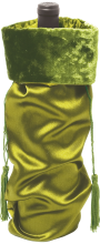 Green Satin Wine Bag