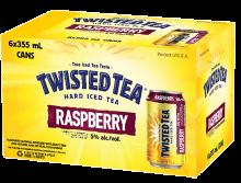 BOSTON BEER COMPANY TWISTED TEA RASPBERRY 6 x 355 ml