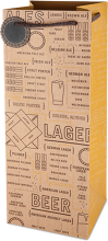 Beer varieties growler gift bag