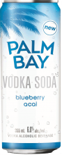 Palm Bay Blueberry Acai Vodka Soda 6 x 355 ml