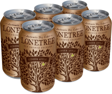 Lonetree Ginger Apple Cider 6 x 355 ml
