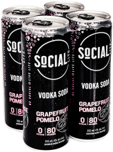 SOCIAL LITE GRAPEFRUIT POMELO 4 x 355 ml