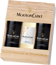 MOUTON CADET 2 RED AND 1 WHITE GIFTBOX 3 x 750 ml