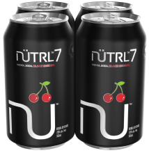 NUTRL 7 VODKA SODA BLACK CHERRY 4 x 355 ml