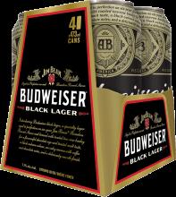 BUDWEISER BLACK LAGER 4 x 473 ml