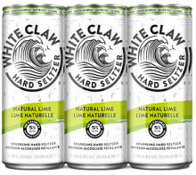 White Claw Sparkling Hard Seltzer Natural Lime 6 x 355 ml