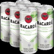 Bacardi - Rum & Soda with Lime 6 x 355 ml
