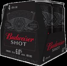 BUDWEISER SHOT 4 x 236 ml