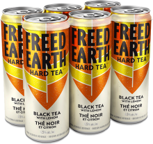 FREED EARTH HARD BLACK TEA WITH LEMON 6 x 355 ml