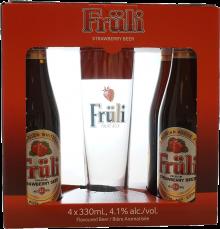 Fruli Strawberry Gift Pack 4 x 330 ml
