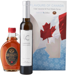 Taste of Canada Vidal Icewine VQA & Maple Syrup Gift Pack 200 ml