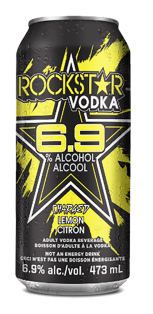 Rockstar + Vodka Charged Lemonade 473 ml