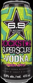 Rockstar Super Sours Vodka Green Apple Beverage 473 ml