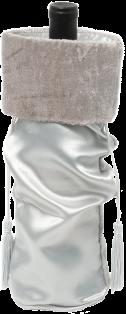 Silver Satin Wine Bag