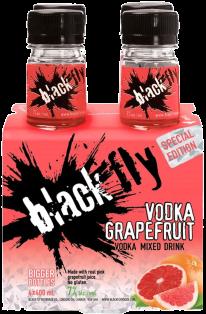 Black Fly Vodka Grapefruit Mixed Drink 4 x 400 ml