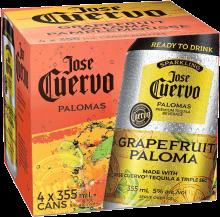 Jose Cuervo Sparkling Grapefruit Paloma 4 x 355 ml