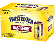 BOSTON BEER COMPANY TWISTED TEA RASPBERRY 6 x 355 ml