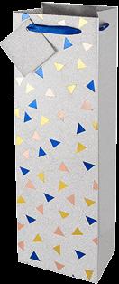 Multi Metallic Triangle Gift Bag
