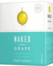 Naked Grape Unoaked Pinot Grigio 4 Litre