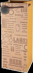 Beer varieties growler gift bag