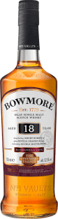 BOWMORE VINTNERS TRILOGY 18 YEAR OLD DOUBLE MATURED MANZANILLA SINGLE MALT SCOTCH WHISKY 750 ml