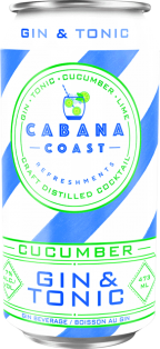 Cabana Coast Cucumber Gin and Tonic 473 ml