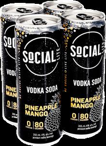 Social Lite Pineapple Mango 4 x 355 ml