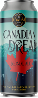 Oxus Brewing Company Canadian Dream Blonde Ale