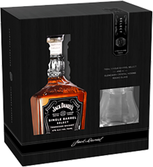 Jack Daniel's Single Barrel whiskey with Glass 750 ml