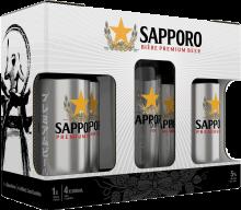 Sapporo Gift Pack 4 x 500 ml