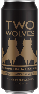 Two Wolves Brewing Great Plains Brown Ale 473 ml
