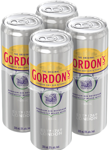 Gordon's London Dry Gin & Tonic 4 x 355 ml
