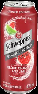 SCHWEPPES SPARKLING BLOOD ORANGE & LIME COCKTAIL 473 ml