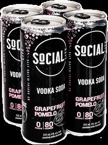 SOCIAL LITE - GRAPEFRUIT POMELO 4 x 355 ml