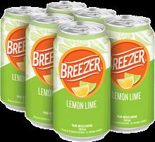 BACARDI BREEZER LEMON LIME 6 x 355 ml