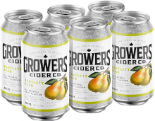 Growers Bartlett Pear Cider 6 x 355 ml