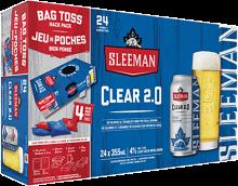 SLEEMAN CLEAR 2.0 WITH IN-CASE BEAN BAGS 24 x 355 ml