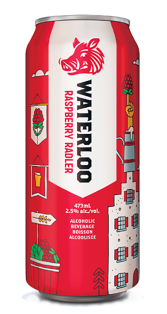 BRICK BREWING WATERLOO RASPBERRY RADLER 473 ml
