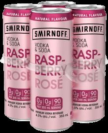 Smirnoff - Vodka & Soda Raspberry Rose 4 x 355 ml