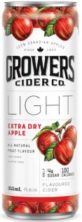 Growers Light Extra Dry Apple Cider 4 x 355 ml
