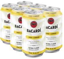 Bacardi Limon & Lemonade 6 x 355 ml