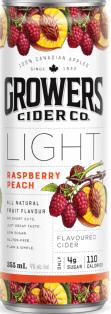 Growers Light Raspberry Peach 4 x 355 ml