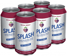 Splash Spiked Sparkling Water- Mixed Berry 6 x 355 ml