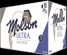 MOLSON ULTRA 15 x 355 ml